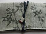 4531 麻の着物で作った和風財布・ポーチ #送料無料の画像