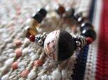 m様ご予約 開光 龍紋黒白天珠とバリ製シルバー925飾り珠 瑪瑙指輪 護符リングの画像