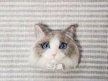 猫顔 ラグドールオーナメント 羊毛フェルトの画像