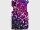 ステンドグラス モチーフ (アメジストパープル) iphone5/5c/5s/6/6s/7/8/X 等 専用  の画像