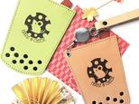 【新春限定】本革タピオカパスケース「mouse & cheese(ねずみ)」タピパス レザーICカードケースの画像