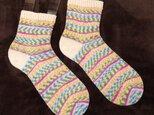 手編み靴下 カメレオンカメラ キャンディーの画像