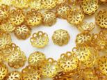 送料無料 ビーズキャップ 12mm ゴールド 座金 花座 200個 ビーズカバー アクセサリー パーツ (AP0813)の画像