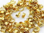 送料無料 バチカン パーツ ゴールド 6mm 100個 小さめ アクセサリー パーツ 金具 (AP0864)の画像