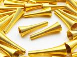 送料無料 ビーズキャップ タッセルキャップ ゴールド 40個 カップ径9mm 全長27mm コイルパーツ AP0910の画像