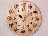 幸運と癒しのイルカ時計 25cm丸の画像