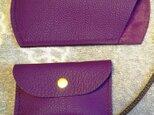 【ご予約品】プニプニ感触トリヨンのシンプルな手縫いメガネケース、名刺入れの画像