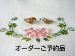【オーダーご予約品】 陶飾り/大 白文鳥(陶器)の画像