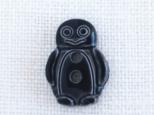(3個) ペンギンのボタン 黒 フランス製 の画像