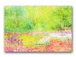 「詩(うた)いし春の色」 ほっこり癒しのイラストポストカード2枚組   No.961の画像