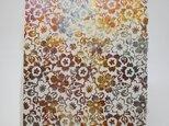 ギルディング和紙葉書 乱桜 黄混合箔の画像