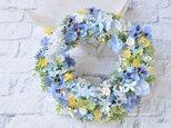 受注制作 spring blue & violet:little flowers wreathの画像
