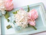 チューリップのブーケコサージュ☆トレイ付きの画像