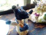 【北欧風】フランスパン好きなネズミの編みぐるみの画像