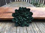 革花のブローチピン 2Lサイズ 深緑の画像