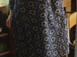 久留米絣花柄ワンピースの画像