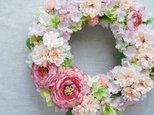 Spring Wreath ~桜~28cm(造花)の画像