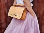 【ひなぎく】本革手作りのお出かけ肩掛けトート ショルダーバッグ 2WAY 鞄 小さいの画像