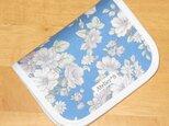 二つ折り財布★花柄(ブルー)の画像