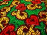 アフリカ布 パーニュ ナイジェリア産 90cm×117cm【送料無料】greenの画像