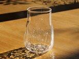 無色透明のグラス - 「 KAZEの肌 」#360・ 高さ11cmの画像