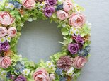 Rose Wreath ~バラの季節~ 32cm(造花)の画像