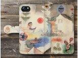 【古賀春江 遊園地】スマホケース手帳型 全機種対応 iPhone11 Galaxyの画像