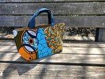 b371-アフリカ布パッチワークトートバッグの画像
