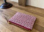 pouch[手織りミニポーチ]レッドの画像