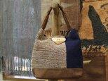 酒袋×刺し子×藍染のバッグの画像