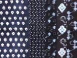 ko0002 絣木綿ハギレ17×100cm5枚セット☆古布・古裂/筒描き/型染め/藍染/の画像