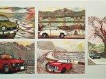 切り絵作品のポストカード5枚セット(148mm×100mm) ※印刷ですの画像