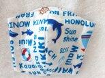 Wガーゼのキッズ立体マスク  イルカの画像