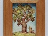 「木とトリと犬」原画 の画像