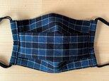 本藍染松坂木綿マスク男女兼用1枚1800円 ノーズワイヤー入りの画像