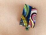 e143-アフリカ布パッチワーク文庫本カバーの画像