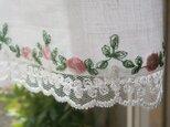 Rose刺繍のチュールレース×リネン cafestyleの画像