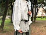 waji labo 巾着ショルダー 墨染め H0703の画像