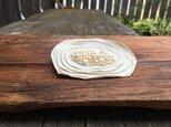 革花のブローチピン(パール)大 金具4.5cm 白の画像