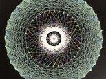 『つながりⅡ』曼荼羅(まんだら)アート 20センチ角額込みの画像