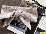 保冷剤 ライトグレー 花柄 綿100% 節約 快適 エコ 夏 スカーフ ネッククーラーの画像