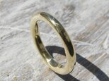 鏡面 ブラスラウンドプレーンリング 3.0mm幅 ミラー 真鍮|BRASS RING 指輪 シンプル アクセサリー|158の画像