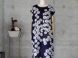着物リメイク 浴衣のチュニックワンピース/フリーサイズ/小菊の画像