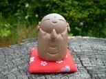 陶の置物 豆地蔵(茶)7の画像