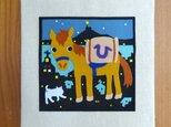 ハンドメイド・フェルト「坂の街・長崎と荷運び馬」の画像