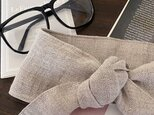 保冷剤 リネン 東炊き ライト ベージュ 生成り 節約 快適 エコ 夏 スカーフ ネッククーラー 天然素材の画像