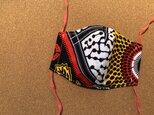 e154-アフリカ布マスクの画像