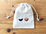 刺繍入り巾着袋 「ごはんとお味噌汁」の画像