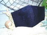送料無料✴大人可愛いネイビーの刺繍レース生地のマスクです✴の画像