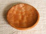 丸深皿(杢)カツラ材 の画像